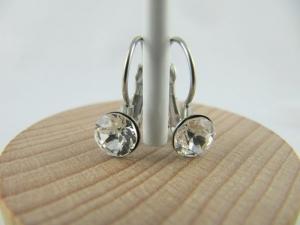 Ohrringe Brisur Kristalle Crystal  - Handarbeit kaufen