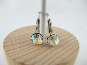 Ohrringe Brisur Kristalle Crystal Shimmer - Handarbeit kaufen