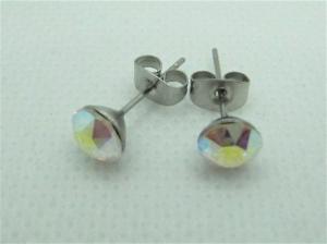 Ohrringe Ohrstecker Kristalle Crystal AB - Handarbeit kaufen