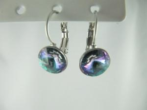 Ohrringe Brisur Rivoli Kristalle Cystal Vitrail Light - Handarbeit kaufen