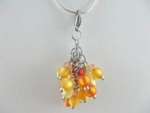Anhänger Perlen Rot Gelb Orange Polaris - Handarbeit kaufen