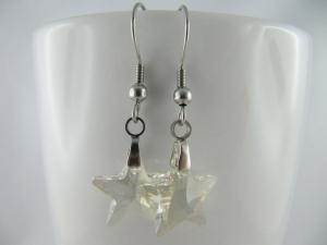 Ohrringe Stern Crystal Silver Shade (644) - Handarbeit kaufen