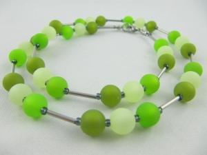 Kette Perlen Polaris Grün Polariskette (406) - Handarbeit kaufen