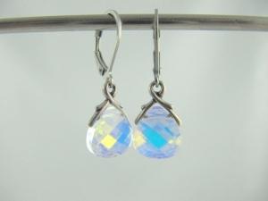 Ohrringe Briolette Crystal AB (644) - Handarbeit kaufen