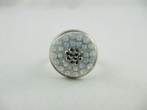 Ring Weiß Glitzer White Opal Silber - Handarbeit kaufen