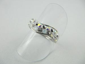 Ring Weiß glitzer Crystal AB Silber Gr.18,5 - Handarbeit kaufen