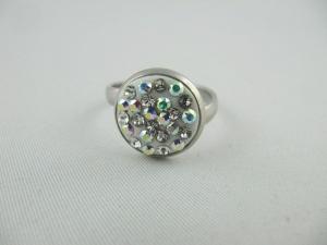 Ring Weiß glitzer Crystal AB (SCR24) - Handarbeit kaufen