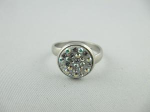 Ring Weiß glitzer Crystal AB (SCR25)  - Handarbeit kaufen