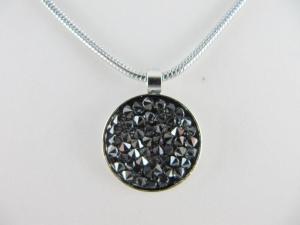 Kette mit Anhänger Crystal Rocks Diamond Metallic - Handarbeit kaufen