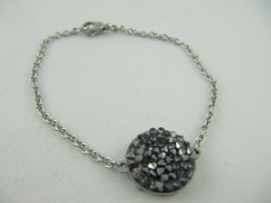 Armband mit Crystal Rocks Diamond Metallic - Handarbeit kaufen