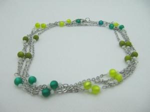 Lange Gliederkette Perlen Polaris Grün  (658)  - Handarbeit kaufen