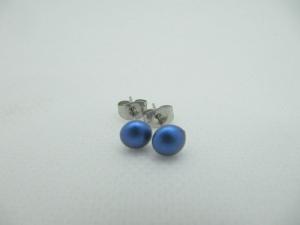 Ohrstecker Blau Iridescent Dark Blue  - Handarbeit kaufen