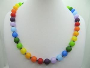 Kette Regenbogen Bunt Polaris Perlen (675)  - Handarbeit kaufen