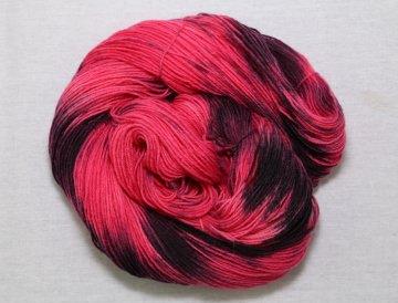 100g Sockenwolle 4- fach,handgefärbt, Nr 080702