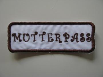 ❤ Mit Liebe selbstgemachter Mutterpass-Aufnäher ❤  - Handarbeit kaufen