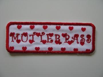❤ Mit Liebe selbstgemachter Mutterpass-Aufnäher ❤