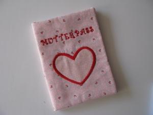 ♥ Mit Liebe genähte Mutterpasshülle ♥ Herz ♥ UNIKAT