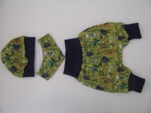 ♥ Mit Liebe genähte Baby-Pumphose mit Halstuch und Mütze ♥  Gr. 56/62 - Handarbeit kaufen