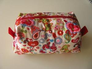 Kulturtasche/Kosmetiktasche aus beschichteter Baumwolle - UNIKAT - Handarbeit kaufen