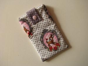 Handytasche/Smartphonetasche/Brillenetui aus Baumwollstoff mit Vlies gefüttert - Handarbeit kaufen