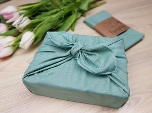 Furoshiki | Mintgrün Geschenkverpackung aus Stoff Made in Deutschland