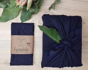 Furoshiki | Dunkelblau Geschenkverpackung aus Stoff Made in Deutschland
