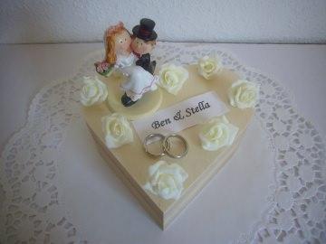 Geldgeschenk Hochzeit Herz Geschenkbox Schatulle