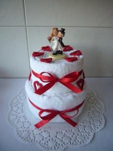 Hochzeitsgeschenk Herz rot Geld Hochzeit Brautpaar