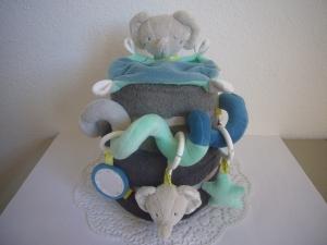 Windeltorte Junge Geburt Taufe Baby mint grau