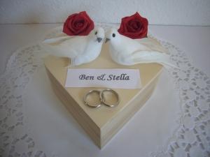 Geldgeschenk Herz Hochzeit Hochzeitsgeschenk Flitterwochen Geld schenken - Handarbeit kaufen