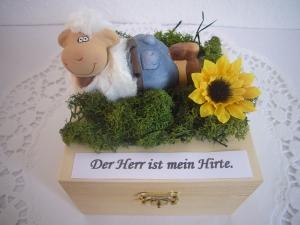 Geldgeschenk Kommunion Konfirmation Firmung Jugendweihe Geschenk Schaf Hirte Box