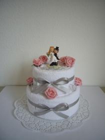 Hochzeitsgeschenk Herzen Rosen Geschenk Hochzeit Hochzeitstorte - Handarbeit kaufen