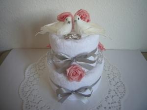 Hochzeitsgeschenk Tauben Herzen rosa Rosen Geschenk Hochzeit Standesamt - Handarbeit kaufen