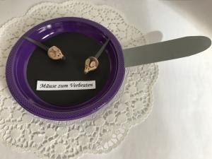 Geldgeschenk Mäuse zum Verbraten Mädchen Frauen lila Geld schenken Geburtstag Kommunion Konfirmation Firmung Jugendweihe - Handarbeit kaufen