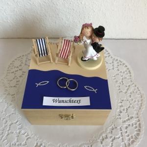 Hochzeit Geldgeschenk Flitterwochen Urlaub Reise Strand Meer maritim Hochzeitsgeschenk Brautpaar Geld schenken Hochzeitsreise - Handarbeit kaufen