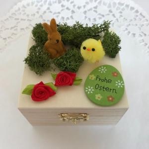 Ostern Geldgeschenk originell verpacken Osterhase Küken Osterei Frohe Ostern Holz-Box Ostergeschenk - Handarbeit kaufen