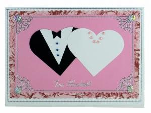 Schöne Hochzeitskarte, Glückwünsche zur Hochzeit für Mann und Frau, Brautpaar, DIN A6 Format