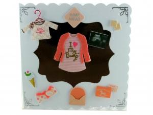 Schwangerschaftskarte mit  Shirt und Strickjacke, Babyshirt, Kekse, Briefumschlag und Eis, Die Karte ist ca. 15 x 15 cm - Handarbeit kaufen
