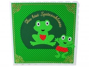 Grußkarte Frösche, Freundschaft, Liebe, Geburtstagsgrüße,  ca. 15 x 15 cm