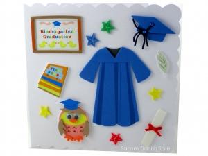Glückwunschkarte, Grußkarte, Kindergarten, bestandenen Kindergarten, die Karte ist ca. 15 x 15 cm - Handarbeit kaufen
