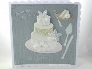 Hochzeitskarte, Glückwunschkarte zur Hochzeit, schöne Grußkarte zur Hochzeit, , ca 15 x 15 cm - Handarbeit kaufen