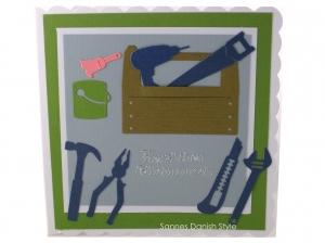Grußkarte für Heimwerker, Handwerker, Geburtstagskarte für selber Macher, ca. 15 x 15 cm  - Handarbeit kaufen