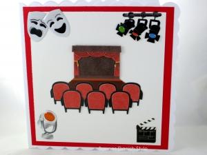 Theaterkarte, Glückwunschkarte Theaterbesuch, Einladung Theater, schöne Geburtstagskarte, Karte ist ca. 15 x 15