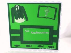 RESERVIERT Konfirmationskarte, Grußkarte für Konfirmation, Konfirmation, die Karte ist ca. 15 x 15 cm