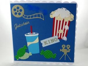 RESERVIERT, Kinogutschein, Popcorn, Eintrittskarte und Getränk, ca. 15 x 15 cm