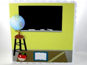 RESERVIERT, Klassenzimmer, Schule, Lehrer, Geburtstagskarte, die Karte ist ca. 15 x 15 cm