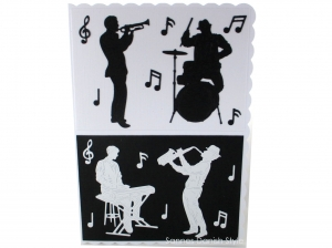 XL Geburtstagskarte, Einladung Konzert, Grußkarte für Musiker, Faltkarte, die Karte ist ca. DIN A5 Format - Handarbeit kaufen