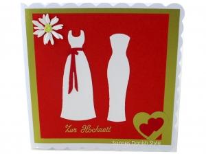 Frauenhochzeit, Hochzeitskarte Frauen, Glückwunschkarte für das glückliche Brautpaar, die Karte ist ca. 15 x 15 cm - Handarbeit kaufen