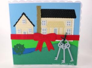 Umzugskarte, Einzugskarte, Umzug in neues Haus, Glückwünsche an Hausbesitzer, die Karte ist ca. 15 x 15 cm