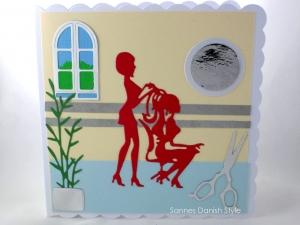 Friseur Glückwunschkarte, Geburtstagskarte für Friseurbesuch, Grußkarte Geldgeschenk, die Karte ist ca. 15 x 15 cm